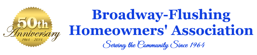 Broadway-Flushing Homeowners' Association header image